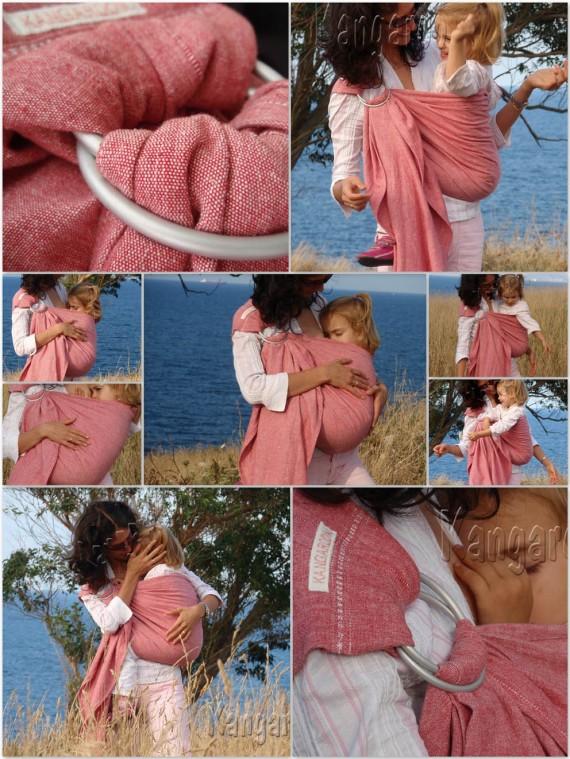 collage bando rosa
